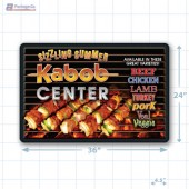 Sizzling Summer Kabob Center Small Floor Merchandising Decal A1Pkg.com SKU 28027