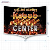 Sizzling Summer Kabob Center Merchandising Mobile Copyright A1PKG.com - 28015