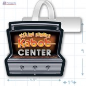 Sizzling Summer Kabob Center Merchandising Rectangle Shelf Dangler - Copyright - A1PKG.com - 28016