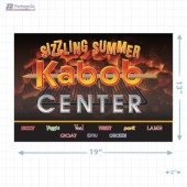 Sizzling Summer Kabob Center Merchandising Landscaped Poster Copyright A1PKG.com - 28019