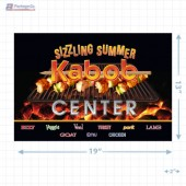 Sizzling Summer Kabob Center Merchandising Landscaped Poster Copyright A1PKG.com - 28020
