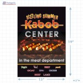 Sizzling Summer Kabob Center Merchandising Landscaped Poster Copyright A1PKG.com - 28021