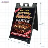 Foodland - Sizzling Summer Kabob Center Merchandising Signicade with Graphics A1pkg.com SKU  28028-FDL