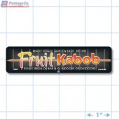 Fruit Kabob Full Color Rectangle Merchandising Labels - Copyright - A1PKG.com SKU -  28030