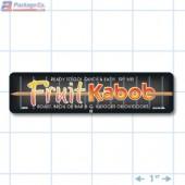 Fruit Kabob Full Color Rectangle Merchandising Labels - Copyright - A1PKG.com SKU -  28030