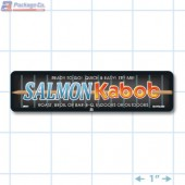 Salmon Kabob Full Color Rectangle Merchandising Labels - Copyright - A1PKG.com SKU -  28031