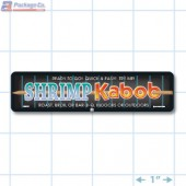 Shrimp Kabob Full Color Rectangle Merchandising Labels - Copyright - A1PKG.com SKU -  28032