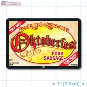 Oktoberfest Pork Sausage Full Color Rectangle Merchandising Labels - Copyright - A1PKG.com SKU -  28109