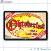 Oktoberfest Pork Sausage Full Color Rectangle Merchandising Labels - Copyright - A1PKG.com SKU -  28109