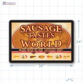Sausage Tastes of the World Small Floor Merchandising Decal A1Pkg.com SKU 28127