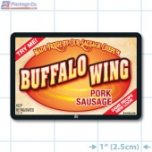 Buffalo Wing Pork Sausage Full Color Rectangle Merchandising Labels - Copyright - A1PKG.com SKU -  28139