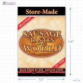 Sausage Tastes of the World Full Portrait Merchandising Poster - Copyright - A1PKG.com SKU -  28141