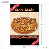 Sausage Tastes of the World Full Portrait Merchandising Poster - Copyright - A1PKG.com SKU -  28142