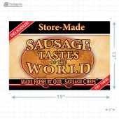 Sausage Tastes of the World Full Portrait Merchandising Poster - Copyright - A1PKG.com SKU -  28143
