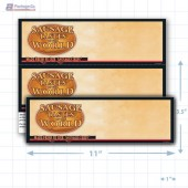 "Sausage Tastes of the World Merchandising Placards 2UP (11"" x 3.5"") - Copyright - A1PKG.com - 28144"
