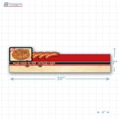 Sausage Tastes of the World Merchandising Large Case Divider - Copyright - A1PKG.com - 28146