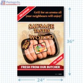 Fresh Store Made Sausage Signicade Merchandising Graphic (2 ft x 3 Ft) A1Pkg.com SKU 28153
