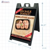 Fresh Store Made Sausage Merchandising Signicade with Graphics A1pkg.com SKU 28155