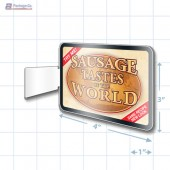 Sausage Tastes of the World Rectangle Aisle Talker Merchandising Decal A1Pkg.com SKU 28161