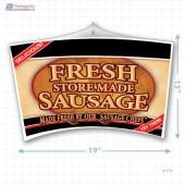 Fresh Store Made Sausage Merchandising Mobile Copyright A1PKG.com - 28162