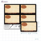 """Fresh Store Made Sausage Merchandising Placards 4UP (5.5"""" x 3.5"""") - Copyright - A1PKG.com - 28166"""