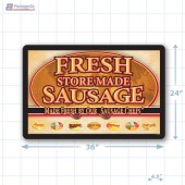 Fresh Store Made Sausage Small Floor Merchandising Decal A1Pkg.com SKU 28167