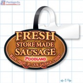 Fresh Store Made Sausage Merchandising Rectangle Shelf Dangler - Copyright - A1PKG.com - 28168
