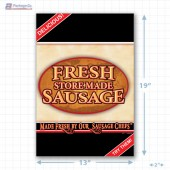 Fresh Store Made Sausage Full Portrait Merchandising Poster - Copyright - A1PKG.com SKU -  28171