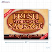 Fresh Store Made Sausage Full Portrait Merchandising Poster - Copyright - A1PKG.com SKU -  28173