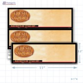 "Fresh Store Made Sausage Merchandising Placards 2UP (11"" x 3.5"") - Copyright - A1PKG.com - 28174"