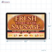 Fresh Store Made Sausage Large Floor Merchandising Decal A1Pkg.com SKU 28178