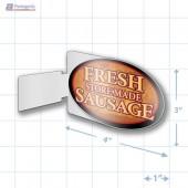 Fresh Store Made Sausage Merchandising Oval Aisle Talker - Copyright - A1PKG.com - 28179