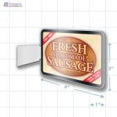 Fresh Store Made Sausage Merchandising Rectangle Aisle Talker - Copyright - A1PKG.com - 28180