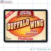 Buffalo Wing Pork Sausage Full Color Rectangle Merchandising Labels - Copyright - A1PKG.com SKU -  28187-FDL