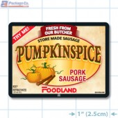 Foodland Pumpkinspice Pork Sausage Full Color Rectangle Merchandising Labels - Copyright - A1PKG.com SKU -  28198