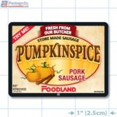 Foodland Pumpkinspice Pork Sausage Full Color Rectangle Merchandising Labels - Copyright - A1PKG.com SKU -  28198