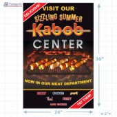 Sizzling Summer Kabob Center Signicade Merchandising Graphic (2 ft x 3 Ft) A1Pkg.com SKU 28029