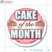 Cake of the Month Full Color Circle Merchandising Label Copyright A1PKG.com - 30101