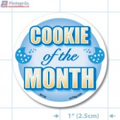 Cookie of the Month Full Color Circle Merchandising Label Copyright A1PKG.com - 30102