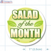 Salad of the Month Full Color Circle Merchandising Labels - Copyright - A1PKG.com SKU # 30103