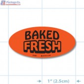 Baked Fresh Fluorescent Red Oval Merchandising Labels - Copyright - A1PKG.com SKU - 31001