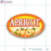 Apricot Full Color Oval Merchandising Labels - Copyright - A1PKG.com SKU -  33102