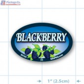 Blackberry Full Color Oval Merchandising Labels - Copyright - A1PKG.com SKU -  33104