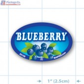 Blueberry Full Color Oval Merchandising Labels - Copyright - A1PKG.com SKU -  33105