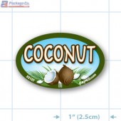 Coconut Full Color Oval Merchandising Labels - Copyright - A1PKG.com SKU -  33107