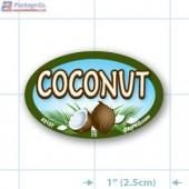 Coconut Full Color Oval Merchandising Labels - Copyright - A1PKG.com SKU -  33107