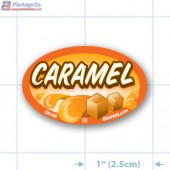 Caramel Full Color Oval Merchandising Labels - Copyright - A1PKG.com SKU -  33120