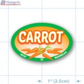 Carrot Full Color Oval Merchandising Labels - Copyright - A1PKG.com SKU -  33121