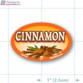 Cinnamon Full Color Oval Merchandising Labels - Copyright - A1PKG.com SKU -  33123