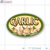 Garlic Full Color Oval Merchandising Labels - Copyright - A1PKG.com SKU -  33124